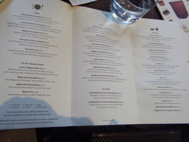 Menu at Koko Black
