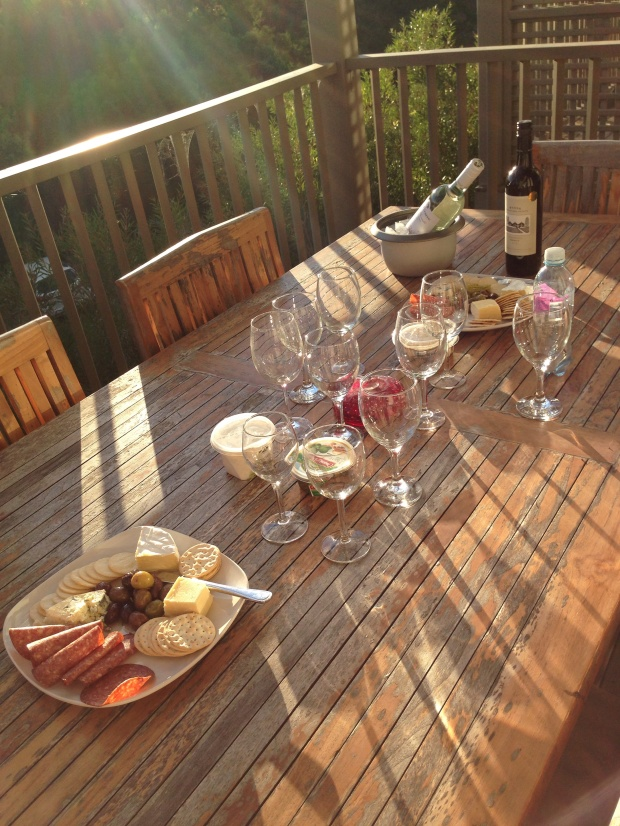 Cheese and wine in the Hunter Valley Wine region Australia