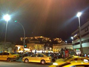 Mastrimaki Square at night