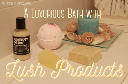 A luxurious bath with Lush products