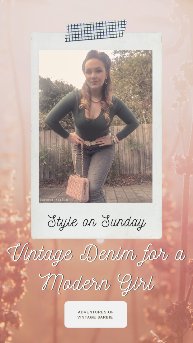 Vintage Denim Style for a Modern Pinup Girl